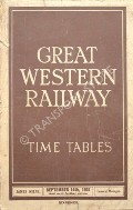 Time Tables - September 14th, 1931 by Great Western Railway