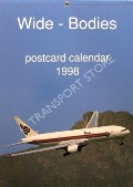 Wide-Bodies Postcard Calendar 1998 by J J Postcards