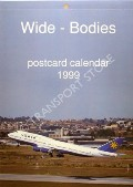 Wide-Bodies Postcard Calendar 1999 by J J Postcards