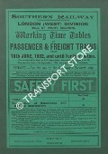 Working Time Table of Passenger & Freight Trains - London (West) Division (Isle of Wight Section) - 18th June, 1932 and until further notice by Southern Railway