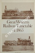 Time Tables June 1865 by Great Western Railway