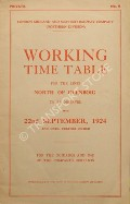 Working Time Table for the lines North of Glenboig by London Midland & Scottish Railway