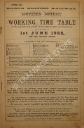 Working Time Table - Southern District - 1st June 1922 and till further notice by North British Railway