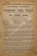 Working Time Table - Northern District - 1st June 1922 and till further notice by North British Railway