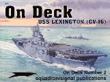 Book cover of On Deck USS Lexington (CV-16) by ADCOCK, Al