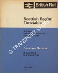 Passenger Services Timetable - Scotland including suburban and steamer services,  18 April 1966 to 5 March 1967 by British Rail Scottish Region