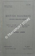 Sectional Appendix to Working Timetable and books of Rules and Regulations - Central Lines - 1st October 1960 by British Railways London Midland Region