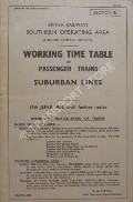 Working Time Table of Passenger Trains - Section B - London Central District - Suburban Lines 13th June 1955, until further notice by British Railways Southern Operating Area
