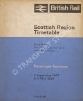Passenger Services Timetable Scotland, 4 September 1967 to 5 May 1968 by British Rail Scottish Region