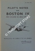 Pilot's Notes for Boston IV - Two Cyclone GR. 2600-23 Engines by Air Ministry