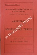 Severn and Wye Joint Line - Appendix to the Service time Tables - April 11th, 1932 and until further notice by Great Western Railway & London, Midland and Scottish Railways