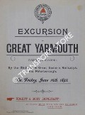 Excursion to Great Yarmouth by the Midland & Great Eastern Railways via Peterborough on Friday, June 16th, 1893 by Bass, Ratcliffe & Gretton Ltd.