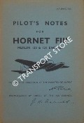 Pilot's Notes for Hornet FIII Merlin 130 & 131 Engines by Air Ministry