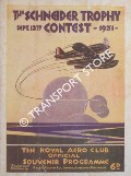 The Schneider Trophy - The Royal Aero Club Official Souvenir Programme: September 12th, 1931 by BURGE, Squadron-Leader C.G. (ed.)