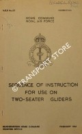 Sequence of Instruction for Use on Two-Seater Gliders 1951 by Home Command, Royal Air Force