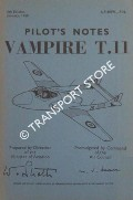Pilot's Notes - Vampire T.II by Air Ministry