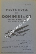 Pilot's Notes for Dominie I & CII - Two Gipsy VI series I or Gipsy Queen III Engines by Air Ministry
