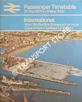 Passenger Timetable - International: Inter-City, Sealink, Seaspeed services, Great Britain-Continent of Europe 27 May 1979 to 31 May 1980 by British Rail