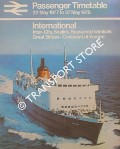 Passenger Timetable - International: Inter-City, Sealink, Seaspeed services, Great Britain-Continent of Europe 22 May 1977 to 27 May 1978 by British Rail