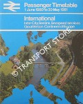 Passenger Timetable - International: Inter-City, Sealink, Seaspeed services, Great Britain-Continent of Europe, 1 June 1980 to 30 May 1981 by British Rail