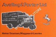 Aveling & Porter Ltd. - Motor Tractors, Waggons & Lorries by Aveling & Porter Ltd.