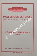 London Suburban Lines [Timetable], 13th June to 18th September 1955 by British Railways London Midland Region