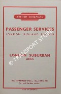 London Suburban Lines [Timetable], 19th September 1955 to 10th June 1956 by British Railways London Midland Region