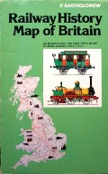 Railway History Map of Britain  by Bartholomew