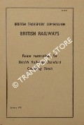 Route restrictions for British Railways Standard Coaching Stock, January 1961 by British Transport Commission, British Railways