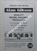 Quality Model Products [Catalogue] January 1996 by Alan Gibson Model Products