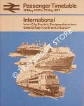 Passenger Timetable - International: Inter-City, Sealink, Seaspeed services, Great Britain-Continent of Europe 30 May 1976 to 21 May 1977 by British Rail