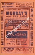 Murray's ABC Time Table for Edinburgh and East of Scotland, 18th June till 5th August 1962 by Thomas Murray & Co.