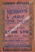 Murray's ABC Time Table for Glasgow and West of Scotland, 4th until 29th May 1964 by Thomas Murray & Co.