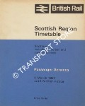 Passenger Services Timetable - Scotland including suburban and steamer services,  6 March 1967 until further notice by British Rail Scottish Region
