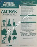 National Timetable - Spring/Summer 1991 by Amtrak