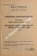 Periodical Operating Notice containing General Instructions and Notices, Saturday 3 December 1994 to Friday, 3 February 1995 by Railtrack South