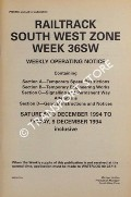 Weekly Operating Notice containing Temporary Speed Restrictions, Temporary Engineering Works, Signalling & Permanent Way Alterations, General Instructions and Notices, 3 to 9 December 1994 by Railtrack South West