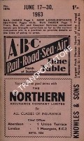 ABC Rail, Road, Sea, Air Time Table, North of Scotland, June 17-30 1963 by Aberdeen Journals Ltd.