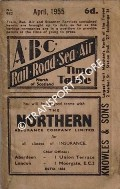 ABC Rail, Road, Sea, Air Time Table, North of Scotland, April 1955 by Aberdeen Journals Ltd.