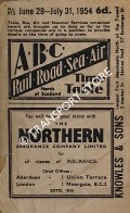 ABC Rail, Road, Sea, Air Time Table, North of Scotland, June 28 - July 31, 1954 by Aberdeen Journals Ltd.