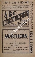 ABC Rail, Road, Sea, Air Time Table, North of Scotland, May 1 - June 13, 1954 by Aberdeen Journals Ltd.