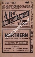 ABC Rail, Road, Sea, Air Time Table, North of Scotland, April, 1952 by Aberdeen Journals Ltd.