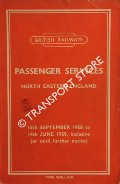 Passenger Services [Timetable] - North Eastern England, 15th September 1958 to 14th June 1959 inclusive (or until further notice) by British Railways North Eastern Region