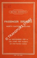 Passenger Services [Timetable] - North Eastern England, 2nd November 1959 to 12th June 1960 inclusive (or until further notice) by British Railways North Eastern Region