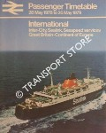 Passenger Timetable - International: Inter-City, Sealink, Seaspeed services, Great Britain-Continent of Europe, 28 May 1978 to 26 May 1979 by British Rail