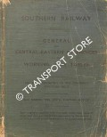 General and Central-Eastern Appendices to the Working Time Tables, 26th March 1934 until further notice by Southern Railway