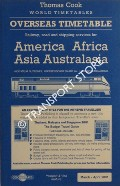 Thomas Cook Overseas Timetable Railway, Road and Shipping Services / Indicateur Outremer / Überseeischer Fahrplan / Horario Ultramarino - America, Africa, Asia and Australasia, March - April 2001 by BASS, P. (ed.)