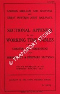 Sectional Appendix to the Working Time Tables for the Chester and Birkenhead and Shrewsbury & Hereford Sections, January 1st 1933 until further notice by London Midland & Scottish and Great Western Joint Railway
