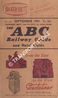The ABC Railway Guide - September 1961 by ADAMS, George W. (ed.)