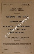 Working Time Table of Passenger Trains - Section D - Glasgow, Helensburgh, Oban, Mallaig and branches, 5 May 1969 to 3 May 1970 by British Railways Scottish Region